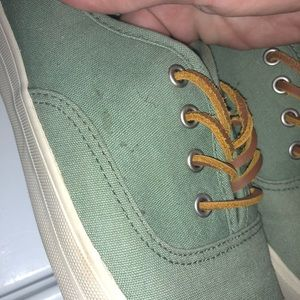American Eagle Outfitters Shoes - American Eagle canvas green slip ons